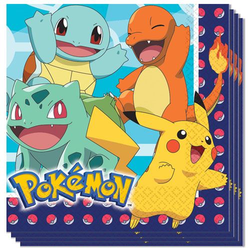 Pokemon Luncheon Napkins 33cm 2Ply - Pack of 16