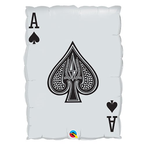 Queen Of Hearts And Ace Of Spades Casino Helium Foil Giant Qualatex Balloon 76cm / 30  in Product Gallery Image