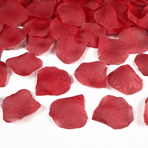 Red Fabric Rose Petals - Pack of 100