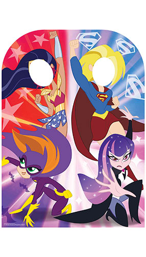 Super Hero Girls Child Size Stand In Lifesize Cardboard Cutout 130cm Product Gallery Image