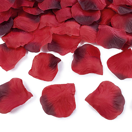 Ombre Red Fabric Rose Petals - Pack of 100