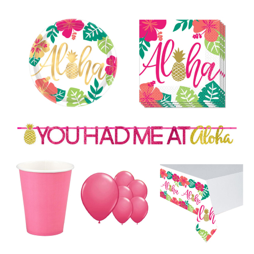 Aloha Summer 8 Person Deluxe Party Pack