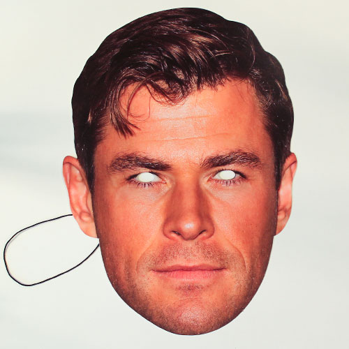 Chris Hemsworth Cardboard Face Mask