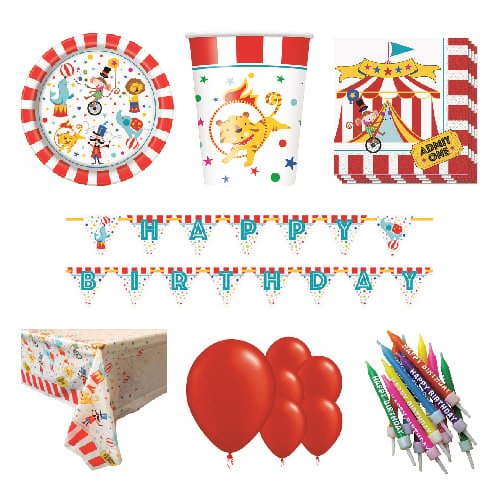 Circus Carnival 8 Person Deluxe Party Pack