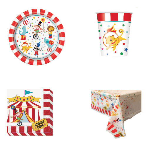 Circus Carnival 8 Person Value Party Pack