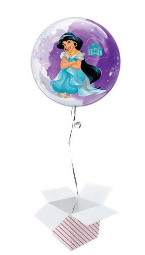Disney Princess Jasmine Bubble Helium Qualatex Balloon - Inflated Balloon in a Box Product Gallery Image