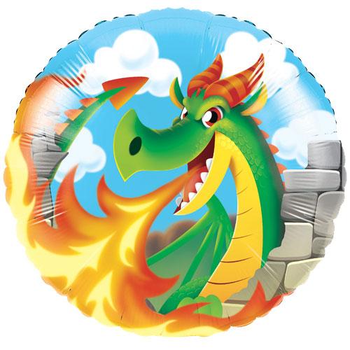 Dragons Round Foil Helium Balloon 43cm / 17 Inch