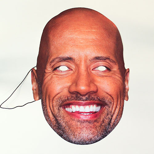 Dwayne Johnson Cardboard Face Mask