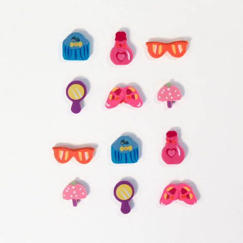 Girlie Novelty Erasers - Pack of 12 Gallery Image