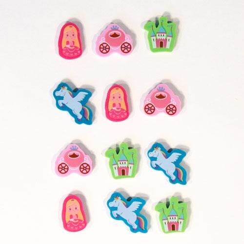 Girlie Novelty Erasers - Pack of 12