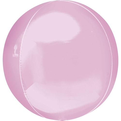 Pastel Pink Orbz Foil Helium Balloon 38cm / 15 Inch