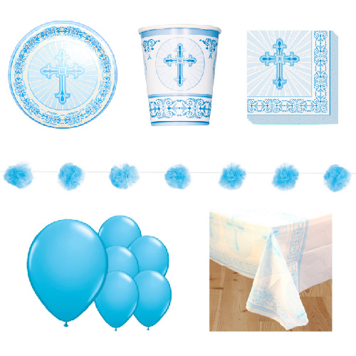 Radiant Cross Blue 8 Person Deluxe Party Pack