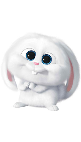 Snowball the Rabbit Secret Life of Pets Star Mini Cardboard Cutout 72cm Product Gallery Image