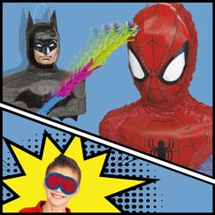 Superhero Pinatas And Games