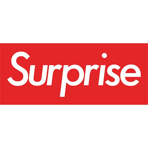 Surprise Red PVC Party Sign Decoration 60cm x 25cm