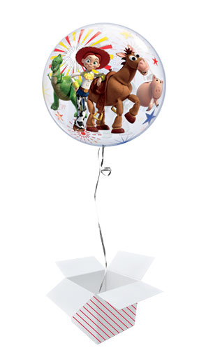 Toy Story 4 Bubble Helium Qualatex Balloon - Inflated Balloon in a Box Product Gallery Image
