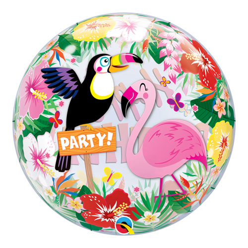 Tropical Hawaii Birthday Party Bubble Helium Qualatex Balloon 56cm / 22 Inch Product Image