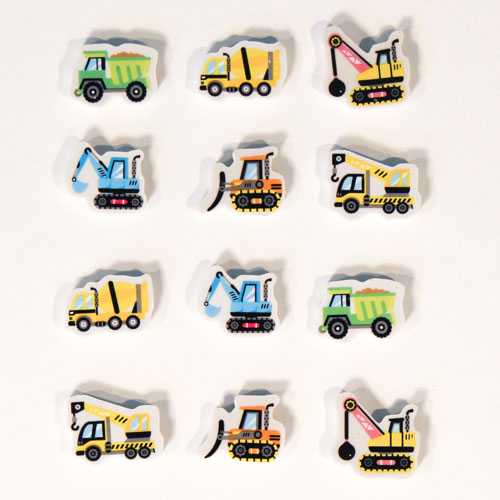 Vehicle Novelty Erasers - Pack of 12 Product Gallery Image