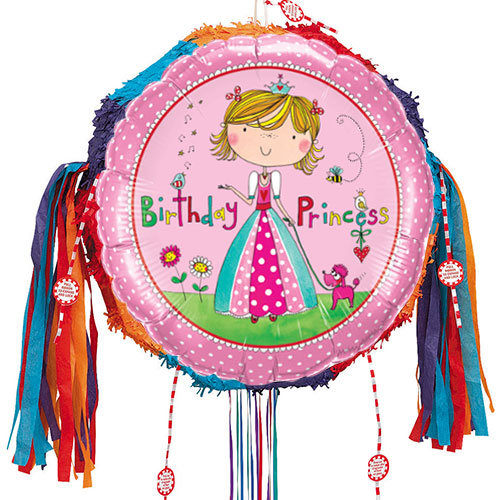 Birthday Princess Pink Pull String Pinata