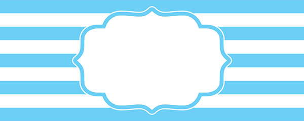 Christening Blue Design Small Personalised Banner – 4ft x 2ft