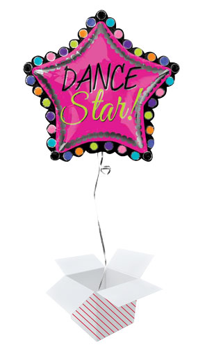 Dance Star 2 Sided Helium Foil Giant Balloon - Inflated Balloon in a Box