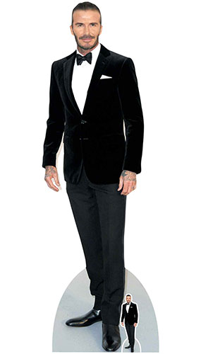 David Beckham Smart Black Suit Lifesize Cardboard Cutout 186cm