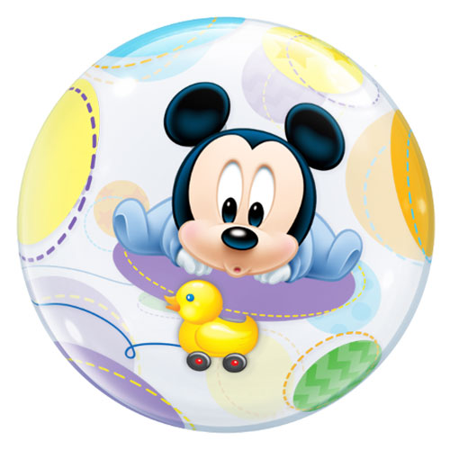 Disney Baby Mickey Mouse Bubble Helium Qualatex Balloon 56cm / 22 in Product Gallery Image