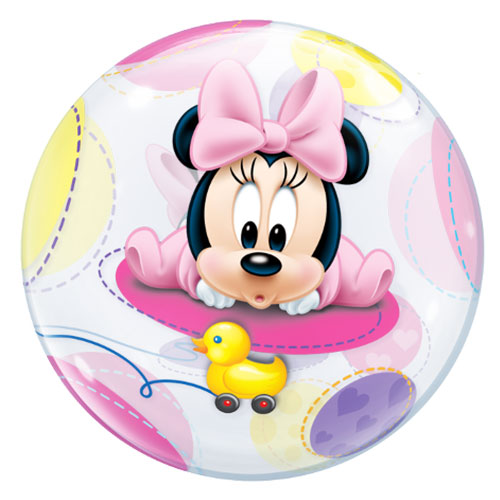 Disney Baby Minnie Mouse Bubble Helium Qualatex Balloon 56cm / 22 in Product Gallery Image