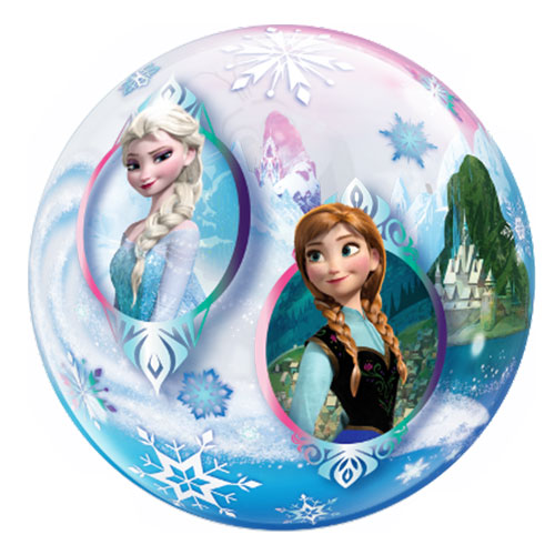 Disney Frozen Bubble Helium Qualatex Balloon 56cm / 22 in Product Gallery Image