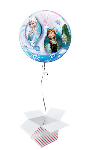 Disney Frozen Bubble Helium Qualatex Balloon - Inflated Balloon in a Box Product Gallery Image