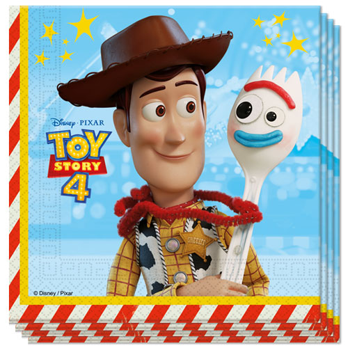 Disney Pixar Toy Story 4 Luncheon Napkins 33cm 2Ply - Pack of 20