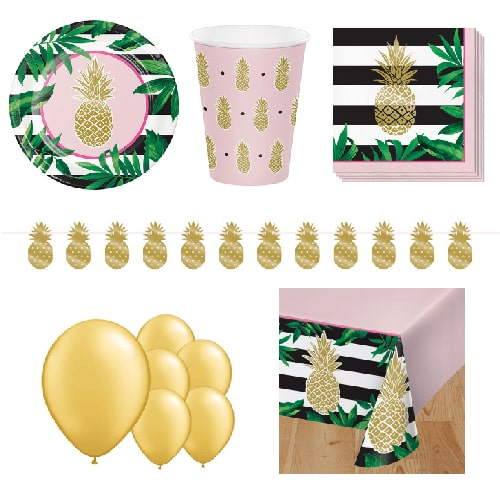 Golden Pineapple 8 Person Deluxe Party Pack