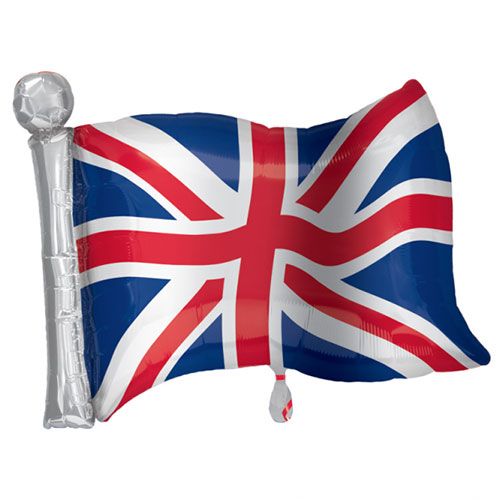 Great Britain Flag Supershape Helium Foil Balloon 68cm / 27 in Product Image