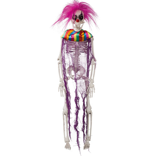 Crazy Clown Skeleton Halloween Prop Hanging Decoration 40cm
