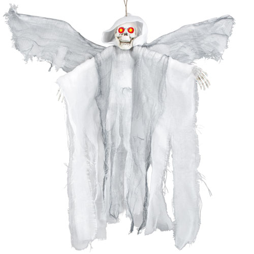 Flying Demon With Red Flashing Eyes Halloween Prop Hanging Decoration 52cm