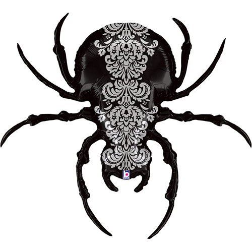 Halloween Scary Spider Supershape Helium Foil Balloon 119cm / 47 in Product Image