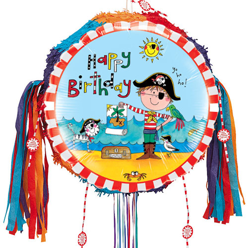 Happy Birthday Pirate Pull String Pinata