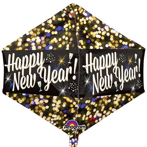Happy New Year Anglez Foil Helium Balloon 53cm / 21 in