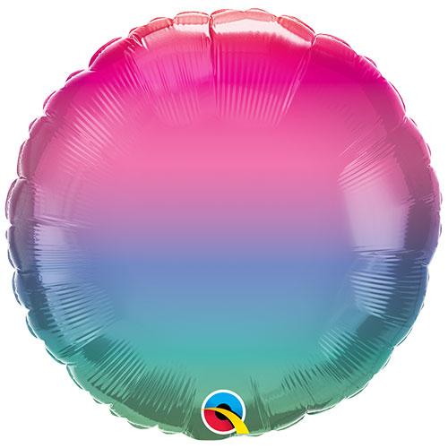 Jewel Ombre Round Foil Helium Qualatex Balloon 46cm / 18 in