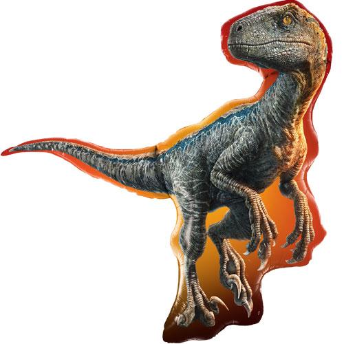 Jurassic World Raptor Dinosaur Helium Foil Giant Qualatex Balloon 97cm / 38 in
