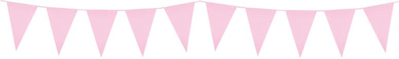 Light Pink Plastic Pennant Bunting 10m