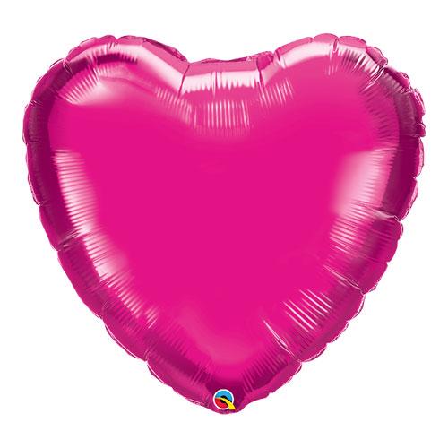 Magenta Heart Helium Foil Giant Qualatex Balloon 91cm / 36 in