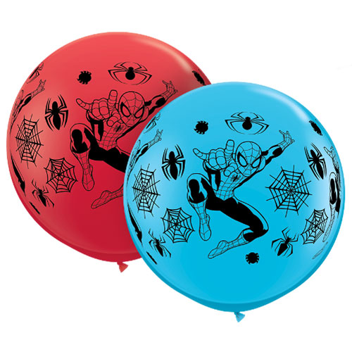 Marvel Spider-Man Assorted Jumbo Latex Qualatex Balloons 91cm / 36 in - Pack of 2