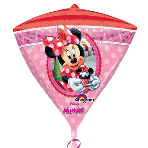 Minnie Mouse Diamondz Helium Foil Balloon 43cm / 17 in Product Gallery Image