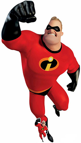 Mr Incredible The Incredibles Lifesize Cardboard Cutout 196cm Product Gallery Image