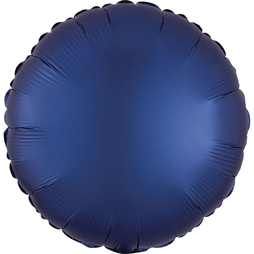 Navy Blue Satin Luxe Round Shape Foil Helium Balloon 43cm / 17 in Product Image