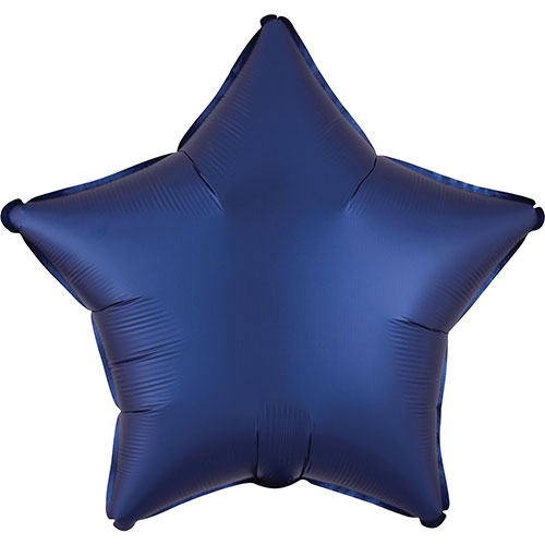 Navy Blue Satin Luxe Star Shape Foil Helium Balloon 48cm / 19 in Product Image