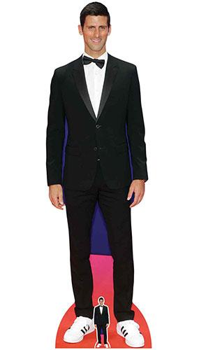 Novak Djokovic Smart Black Suit Lifesize Cardboard Cutout 190cm Product Gallery Image