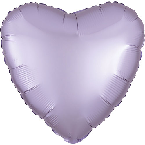 Pastel Lilac Satin Luxe Heart Shape Foil Helium Balloon 43cm / 17 in