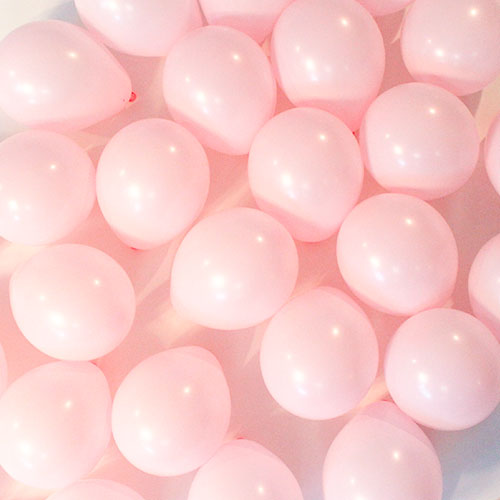 Pastel Matte Pink Biodegradable Mini Latex Balloons 13cm / 5 in – Pack of 100
